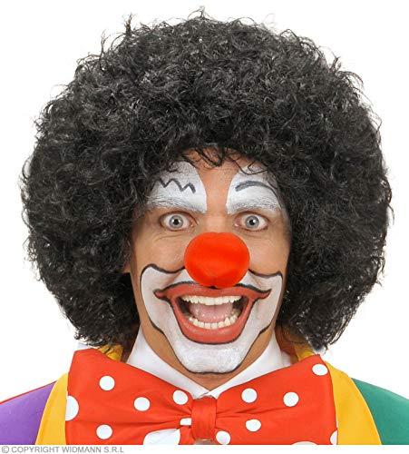 Pruik clown zwart voor haaraccessoires carnaval