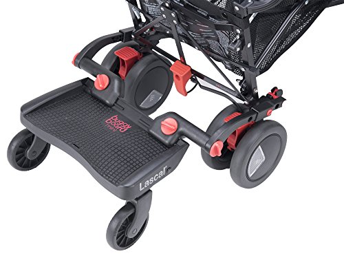 Lascal Planche à Roulettes - Buggyboard Mini - Noir / Rouge