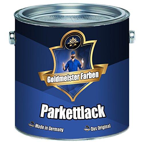 Goldmeister Farben PARKETTLACK glänzend seidenmatt farblos Holzversiegelung Trppenlack Parkettpflege Parkettöl (10 L, Glänzend)