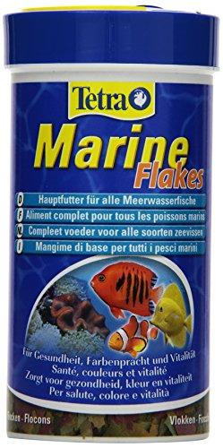 Tetra Marine Flakes, vollwertiges Hauptfutter für kleine und mittlere Meerwasserfische, 250 ml Dose