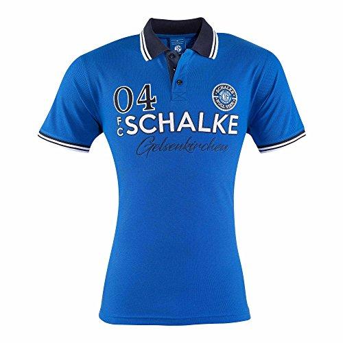 FC Schalke 04 Herren Polo-Shirt königsblau (S)