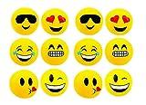 RIN Emoji Beach Balls Inflatable, Pool Birthday Party Toys, 12 Piece