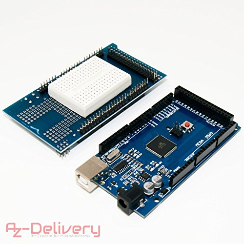 AZDelivery ⭐⭐⭐⭐⭐ Mega 2560 R3 Board con ATmega2560, 100% Arduino Compatibile e con gratis eBook (tedesco). Mega2560 Bundle