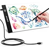 Tavoletta Luminosa A4 LED Lavagna Luminosa per Disegnare, Tavoletta Luminosa Led per Disegnare Schizzi, Gli Artisti, Disegnare, Animazione (A4-Basic)