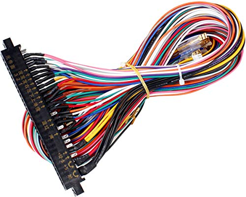 EG STARTS Arcade Jamma 56 Pin Interface Cabinet Wire Wiring Harness Loom Multicade Arcade PCB Cable for Arcade Machine Video Game Consoles Jamma 60-in-1 Board & Pandora Box 2 3 4 Game