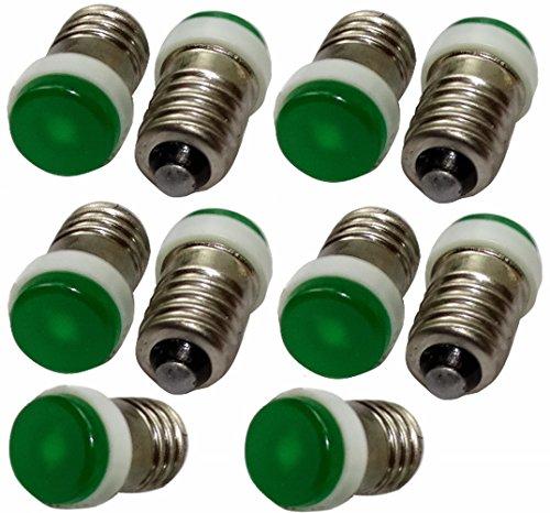 Aerzetix 10 lampen E10 LED 12 V groen licht