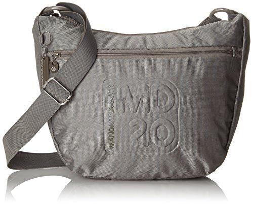 Mandarina Duck MD20 TRACOLLA Grey, Borsa a tracolla donna Mezzaluna