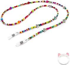 Eyeglass String Holder Beaded Eyeglass Chains for Women Beads 27.5 inches Glasses Holder Strap Colorful Gift
