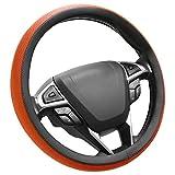 SEG Direct Couvre Volant Orange Microfibre Cuir Diamètre 37-39 cm