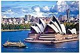 Mini Puzzles de 1000 Piezas en Miniatura DIYpara Adultos Sydney Opera House de cartón Resistente Desafío de Ejercicio Cerebral Juego de Alta dificultad Regalo para Niño 38 * 26cm
