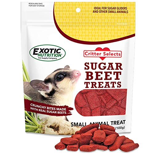 Sugar Beet Treat (3.5 oz) - Healthy Natural Treat with Vitamins & Minerals - Sugar Gliders, Chinchillas, Squirrels, Prairie Dogs, Marmosets, Monkeys, Parrots, Birds & Other Small Pets