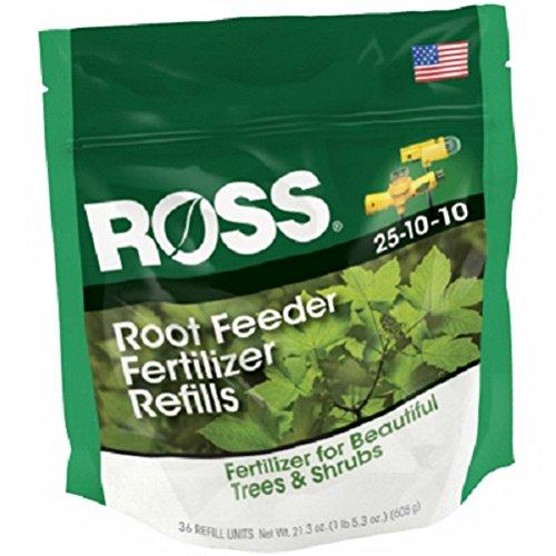 Ross 14666 36 Pack Tree & Shrub Fertilizer Root Feeder Refills - Quantity 5