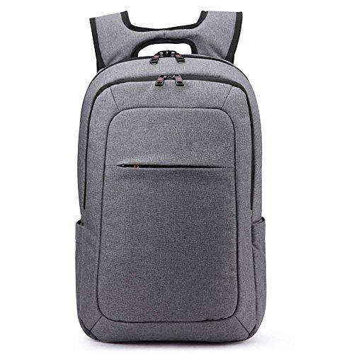 MELIANDA MA-14100 stylischer Rucksack aus wasserabweisenden robustem Polyestergewebe in Lightgrey