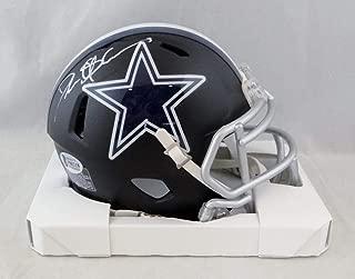 Deion Sanders Signed Dallas Cowboys Flat Black Mini Helmet- Beckett Auth White