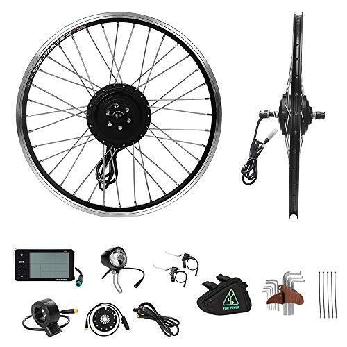 "YOSE POWER Elektrofahrräder Hub Motor Front Wheel 36V250W 20\"" Fahrrad E-Bike Conversion Kit 20 Zoll schwarz mit LCD Display"