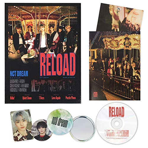 NCT DREAM - RELOAD [ Ridin' ver. ] CD + Booklet + Folding Poster + Photocard + Circle Card + FREE GIFT / K-pop Sealed
