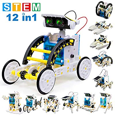 EZIGO STEM Toys for 10 Year Olds 12-in-1 Solar Robot Toys Kit Building Toys DIY Educational Solar Powered Robotics Creative Science Puzzle Toys for Kids Boys Aged 8 9 10 11 12 and up Teens Gifts