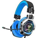 Bengoo ゲーミングヘッドセット ps4 ヘッドセット ツインドライバー ゲーミングヘッドホン ヘッドセット マイク付き プロ用 高音質 高級感 スライド式アイム 可動式イヤホンマット GH3 ブルー