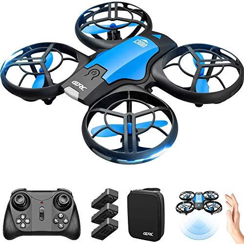 4DRC V8 Mini Drone per Bambini, Quadricottero RC con Telecomando, Funzione Hovering, modalità Senza Testa, 3D Flip, Decollo Atterraggio a Un Tasto, velocità Regolabile, Adatto ai Principianti