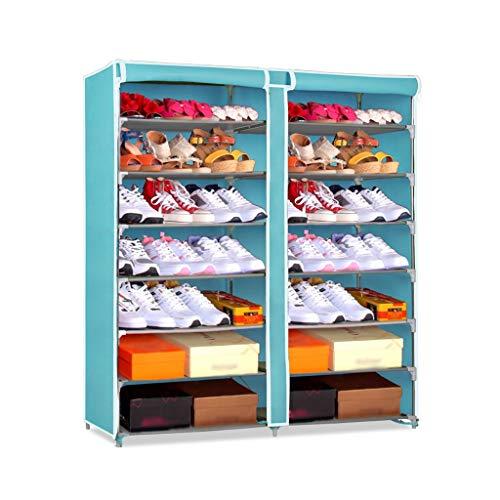Organizzatore di scarpe Scaffale da scarpe a 7 piani semplice con coperchio antipolvere Armadio scarpiera armadio Lunghezza armadio 118 cm * Larghezza 29,5 cm * Altezza 123,5 cm Ripiano per scarpe rob