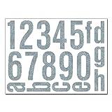 Baby-Sicherheits-Reflektor Hausnummern Aufkleber - Set mit Nummern, Ziffern & Buchstaben zum...