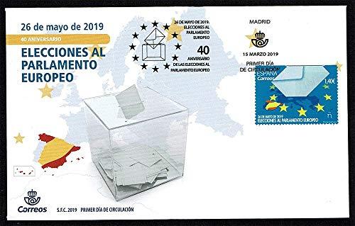 LaVecchiaScatola 2019 Spagna FDC Anniversario parlamento Europeo Unusual