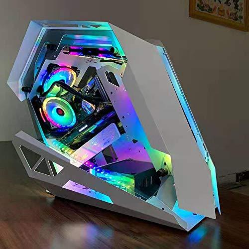 GUOJIAYI Caja de ordenador panorámica sin ventilador, color blanco