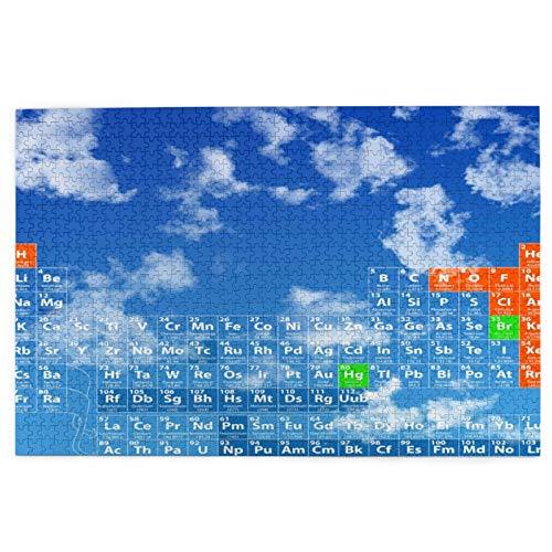 Rompecabezas de 1000 Piezas,Rompecabezas de imágenes,Tabla periódica completa de los elementos,incluido el número,Juguetes puzzle for Adultos niños Interesante Juego Juguete Decoración Para El Hogar