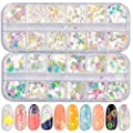Nail Sequins Iridescent Mermaid Colorful Nail Glitter