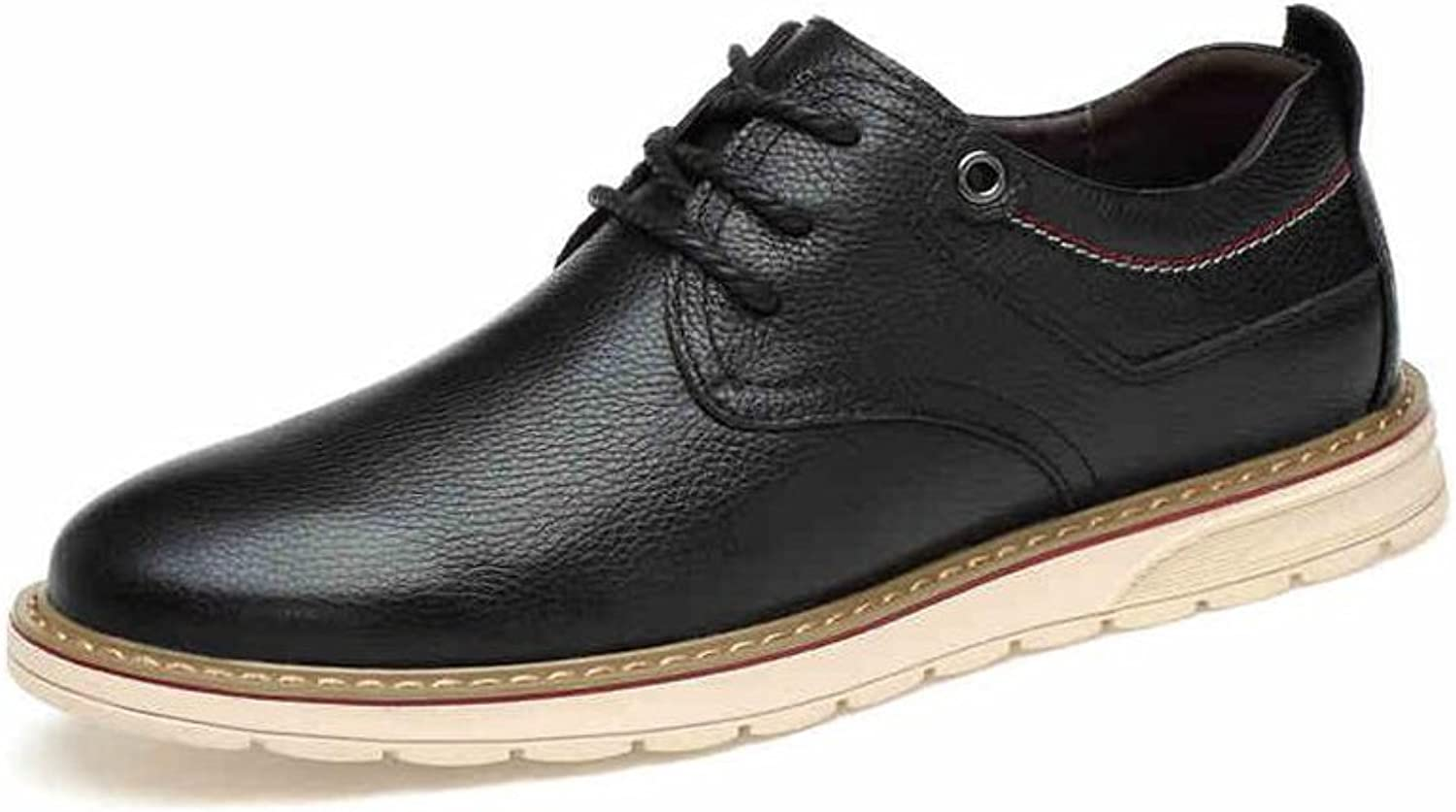 YIXINY British Style Plate shoes Leisure Comfortable Youth Spring And Autumn Black Brown bluee (color   BLACK, Size   EU39 UK6 CN39)