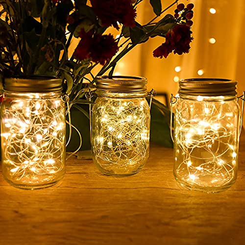 [12 Pack] Starry Fairy Lights Battery Operated,2m 20 D Copper Wire Bott Light,Firefly String Decorative Lighting for Home Tab Party Wedding Indoor Jar Garden Christmas Decor(Warm White) BJY969