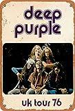 GenericBrands Deep Purple Uk Tour 76 Jahrgang Blechschild