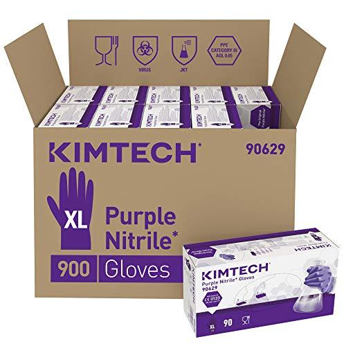 Kimtech Purple Nitrile Schutzhandschuhe, Größe XL, Beidseitig tragbar, Violett, 10x90 Stück
