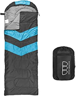 Gold Armour Sleeping Bag for Indoor and Outdoor Use - Great for Kids, Boys, Girls, Teens, Adults. Ultralight and Compact B...