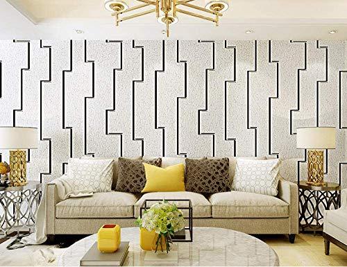 Wallpaper Non-Woven melkachtig wit 11C4001 moderne minimalistische Verdikte Deer Suede Living Room Bedroom TV Achtergrond jilisay (Color : Milky White 11c4001)