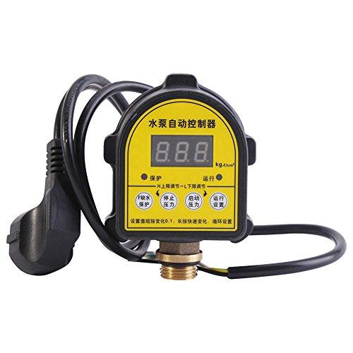 Controladores de presión, interruptores de bomba, 220 V Interruptor automático inteligente de encendido y apagado Interruptor de bomba digital Hogar para fuente de estanque Centro de agua