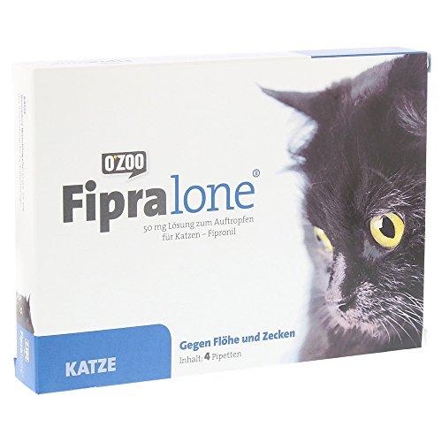 FIPRALONE 50 mg Lsg.z.Auftropf.f.Katzen vet. 4Stück