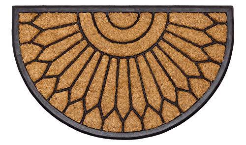 LAKO Mambo Fußmatten, Kokos & Gummi, 004 Grafik Halbkreis - Kelch, 75 x 45 x 2,8
