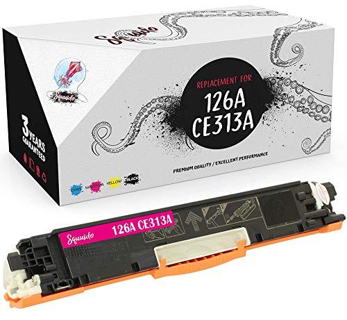 Squuido Cartucho de tóner Magenta 126A CE323A Compatible para HP Laserjet Pro M175nw M175a CP1025 CP1025nw TopShot MFP M275 M275a M275nw | Alto Rendimiento 1000 páginas