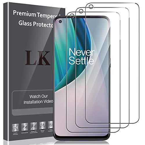 LK Compatible con OnePlus Nord N10 5G Protector de Pantalla,3 Pack,9H Dureza Cristal Templado,Vidrio Templado Screen Protector