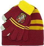 Sabor Gorro y Guantes Harry Potter Completos Tamaño Adulto Casa de Gryffindor Original 100% Oficial Escuela de Magia Hogwarts
