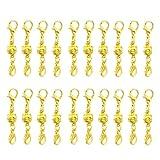 Healifty 20 pz Fermagli Aragosta magnetici Charms Aragosta Artiglio Chiusura Forma Ovale Collana Braccialetto Accessorio per Gioielli Fai da Te (Dorato)