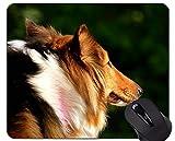 Yanteng Imprimir con el cojín de ratón del Perro de Pastor alemán, colchoneta Alfombrilla de ratón