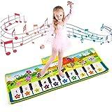 MOOKLIN ROAM Alfombra para Piano, Alfombrilla de Teclado Táctil Musical Estera de Baile con 10 Melodías 8 Instrumentos, Juguetes Musicales Regalo para Bebé Niños Niñas (100 x 36 cm)