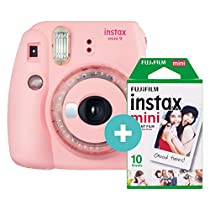 Instax Mini 9 Rosa con 10 disparos