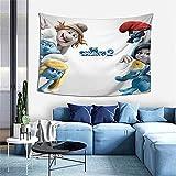 Die Schlümpfe Wandbehang, Überwurf, Decke, Hippie-Wandteppich, Dekoration, Bohemian-Bettdecke, Tagesdecke, Yoga, Meditation, 101,6 x 152,4 cm