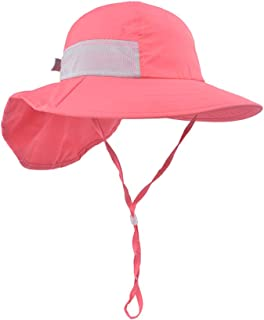 Toddler Sun Hat Kids Outdoor Activities UV Protecting Sun Hats with Neck Flap (2T-7T)