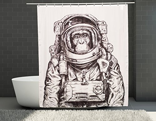 Beyond Earth | Duschvorhang | 180x200 cm | Wasserdicht | Anti-Schimmel | Einzigartiges Design | Pandafari