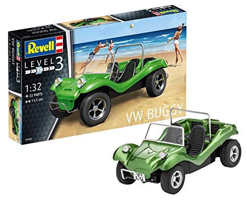 Revell 80-7682 Modellbausatz Auto 1:32 - Volkswagen VW Käfer Buggy - offener Strandbuggy im Maßstab 1:32, Level 3, originalgetreue Nachbildung mit vielen Details, 07682