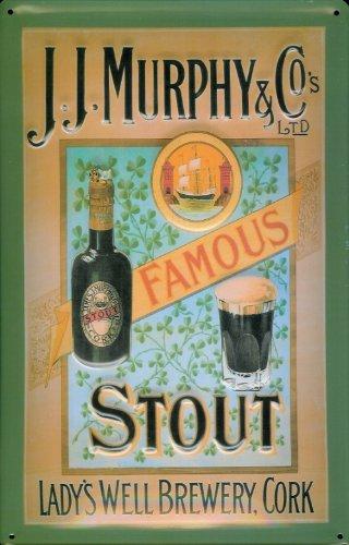 Blechschild Nostalgieschild Murphy & Co. Famous Stout Bier Beer Retro Schild Bierwerbung